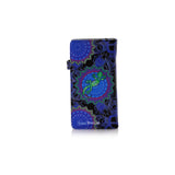 Shagwear Funky Gecko Large Zipper Women's Wallet, Black