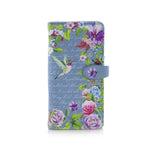 Shagwear Vintage Hummingbird Large Zipper Women's Wallet, Blue