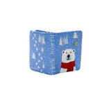 Shagwear True North Polar Bear Small Zipper Wallet, Blue