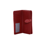 Shagwear True North Polar Bear Large Zipper Wallet, Red