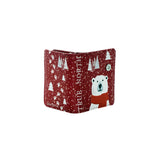 Shagwear True North Polar Bear Small Zipper Wallet, Red