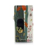 Raccoon and Friends Large Zipper Women's Wallet, Cream