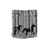 Shagwear Forest Horse Large Zipper Women's Wallet, Grey