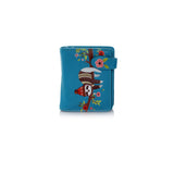 Shagwear Chilin' Sloth Small Zipper Women's Wallet Teal