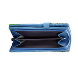Shagwear Blue Whale Large Zipper Women's Wallet, Blue