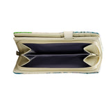 Shagwear Blue Whale Large Zipper Women's Wallet, Cream