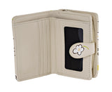 Shagwear Honeycombs Small Zipper Women's Wallet, Cream