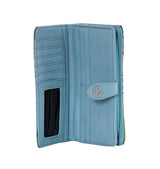 Shagwear Sea Turtle Large Zipper Women's Wallet, Blue