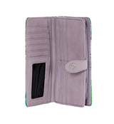 Shagwear Sea Turtle Large Zipper Women's Wallet, Purple