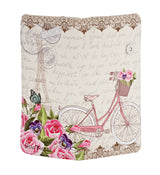 Shagwear Paris Bicycle Large Zipper Bi-Fold Women's Wallet, Cream
