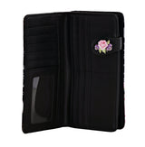 Shagwear Paris Bicycle Large Zipper Bi-Fold Women's Wallet, Black