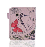 Shagwear Vintage Time Piece Small Zipper Women's Wallet, Pink