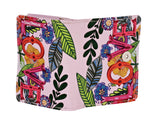 Shagwear Love Floral Small Zipper Women's Wallet, Pink
