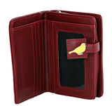 Shagwear Book of Birds Small Zipper Bifold Wallet, Red