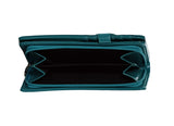 Shagwear Winter Fox Large Zipper Bi-Fold Women's Wallet, Teal