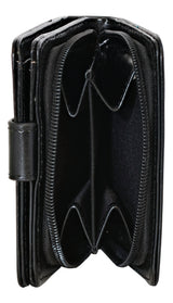 Shagwear Winter Fox Small Zipper Women's Wallet, Black