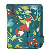 Shagwear Forest Foxes Small Zipper Women's Wallet, Teal