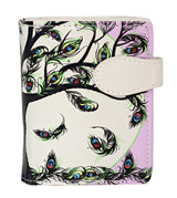 Shagwear Tree of Life Small Zipper Women's Wallet, Cream