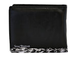 Shagwear Vintage Ship Men's Faux Leather Bifold Wallet, Black