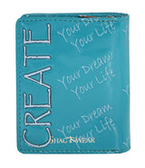 Shagwear Create Your Dreams Short Snap Women's Wallet, Teal