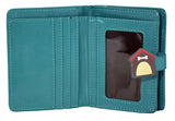 Shagwear Show Dogs Small Zipper Women's Wallet, Teal
