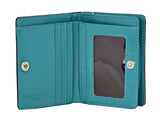 Shagwear Caterpillar Garden Small Snap Zipper Women's Wallet, Teal