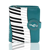 Shagwear Piano Symphony Small Zipper Women's Wallet, Teal