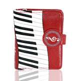 Shagwear Piano Symphony Small Zipper Women's Wallet, Red