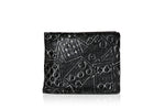 Shagwear Poker Cards Men's Faux Leather Bifold Wallet, Black