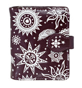 Shagwear Bohemian Suns Small Zipper Women's Wallet, Purple