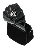 Gothic Night Creature Bat with Pentagram Mini Bag, Black