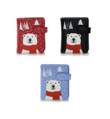 Shagwear True North Polar Bear Small Zipper Wallet