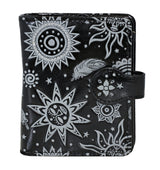 Shagwear Bohemian Suns Small Zipper Women's Wallet, Black