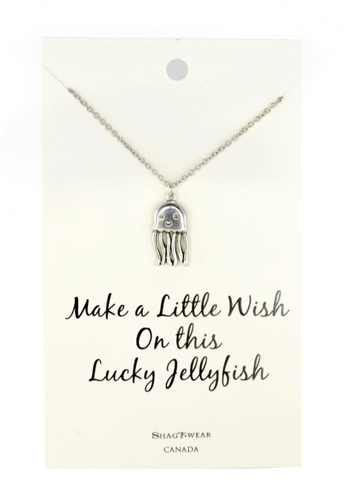 Shagwear Make a Wish Jellyfish Pewter Necklace