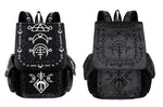 Gothic Runic Fashion Backpack, Black