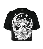 Gothic Sailor Moon Crop Top T-Shirt
