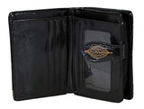 Shagwear Autumn Dragonflies Small Zipper Women's Wallet, Black