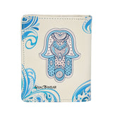 Shagwear Hamsa Small Snap Zipper Women's Wallet, Cream