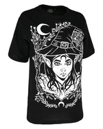 Elf Witch Gothic Women's Oversized Shirt, Black