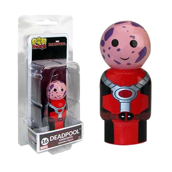 Marvel Deadpool Unmasked Wooden Pin Mate Figure #16