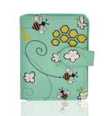 Shagwear Honeycombs Small Zipper Women's Wallet, Green
