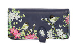 Chickadee Garden Large Zipper Women's Wallet