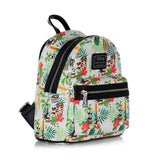 Loungefly Disney Mickey & Minnie Mouse Surf Holiday AOP Fashion Backpack