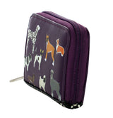 Shagwear DogsDogsDogs Zipper Change Purse, Purple