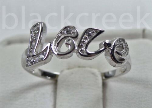 925 Sterling Silver White C.Z. ~LOVE~ Ring Size 7