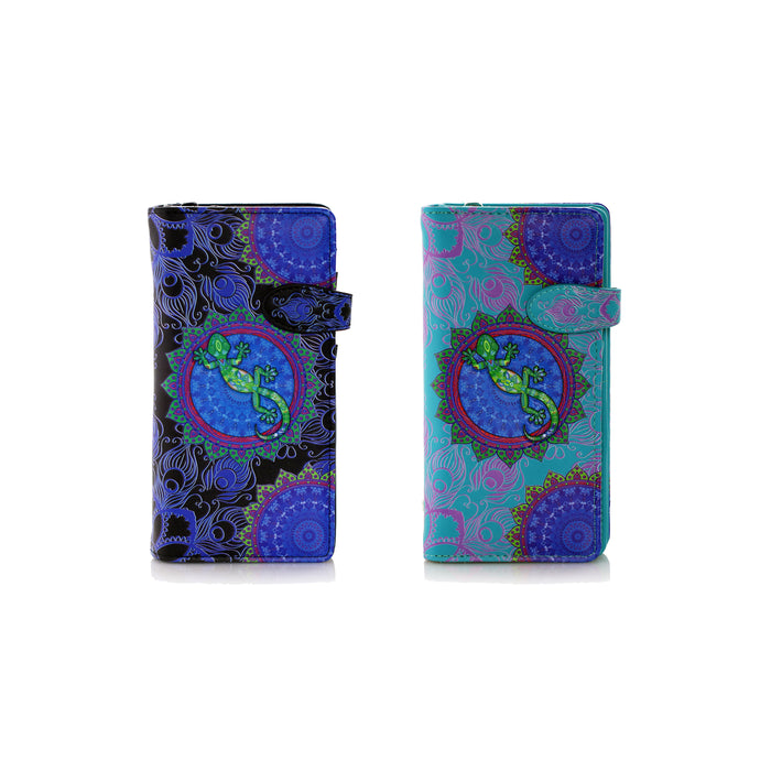 Shagwear Funky Gecko Large Zipper Women's Wallet