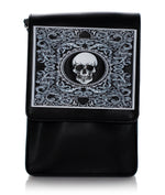 Skull Card Crossbody Bag Purse, Black