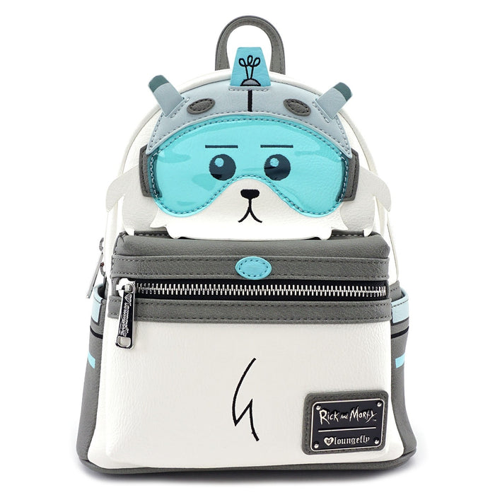 Loungefly Rick and Morty Snuffles Dog Faux Leather Mini Backpack