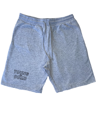 Young and Dumb grey stadium shorts