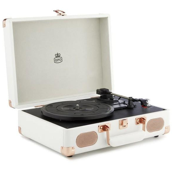 GPO Soho, Stylish Turntable From Vinyl Collection, White